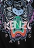 Black tiger-print cotton T-shirt - Kenzo