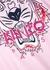 Pink tiger-print cotton T-shirt - Kenzo