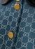 Blue monogrammed wool-blend lamé dress - Gucci