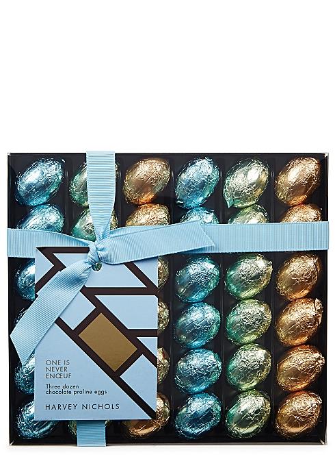 HARVEY NICHOLS One is Never Enœuf Three Dozen Chocolate Praline Eggs