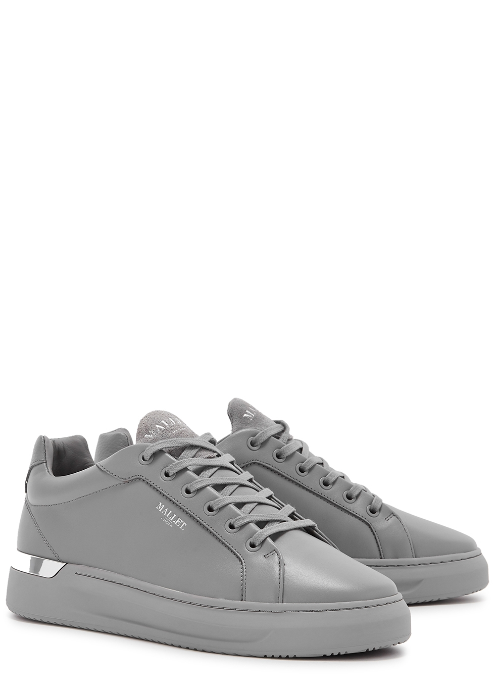 Mallet GRFTR grey leather sneakers