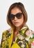Tortoiseshell oval-frame sunglasses - Gucci