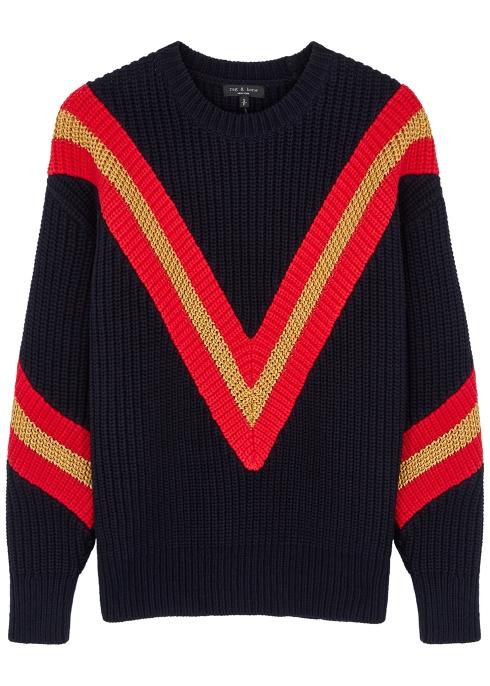 Rag & Bone Knits Leon stripe-intarsia chunky-knit jumper