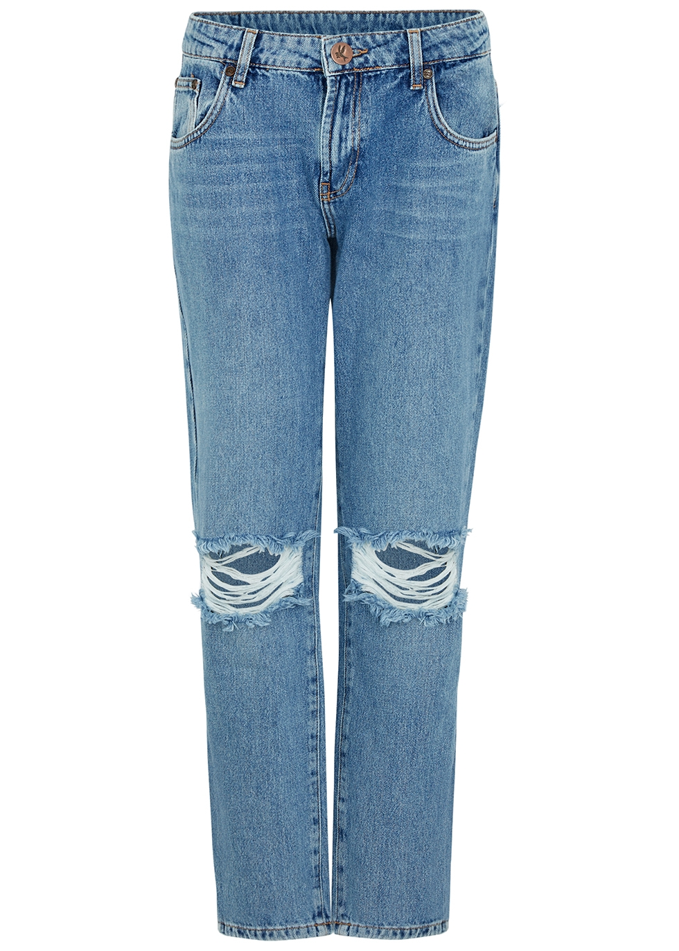 Pacifica Awesome Baggies blue ripped jeans