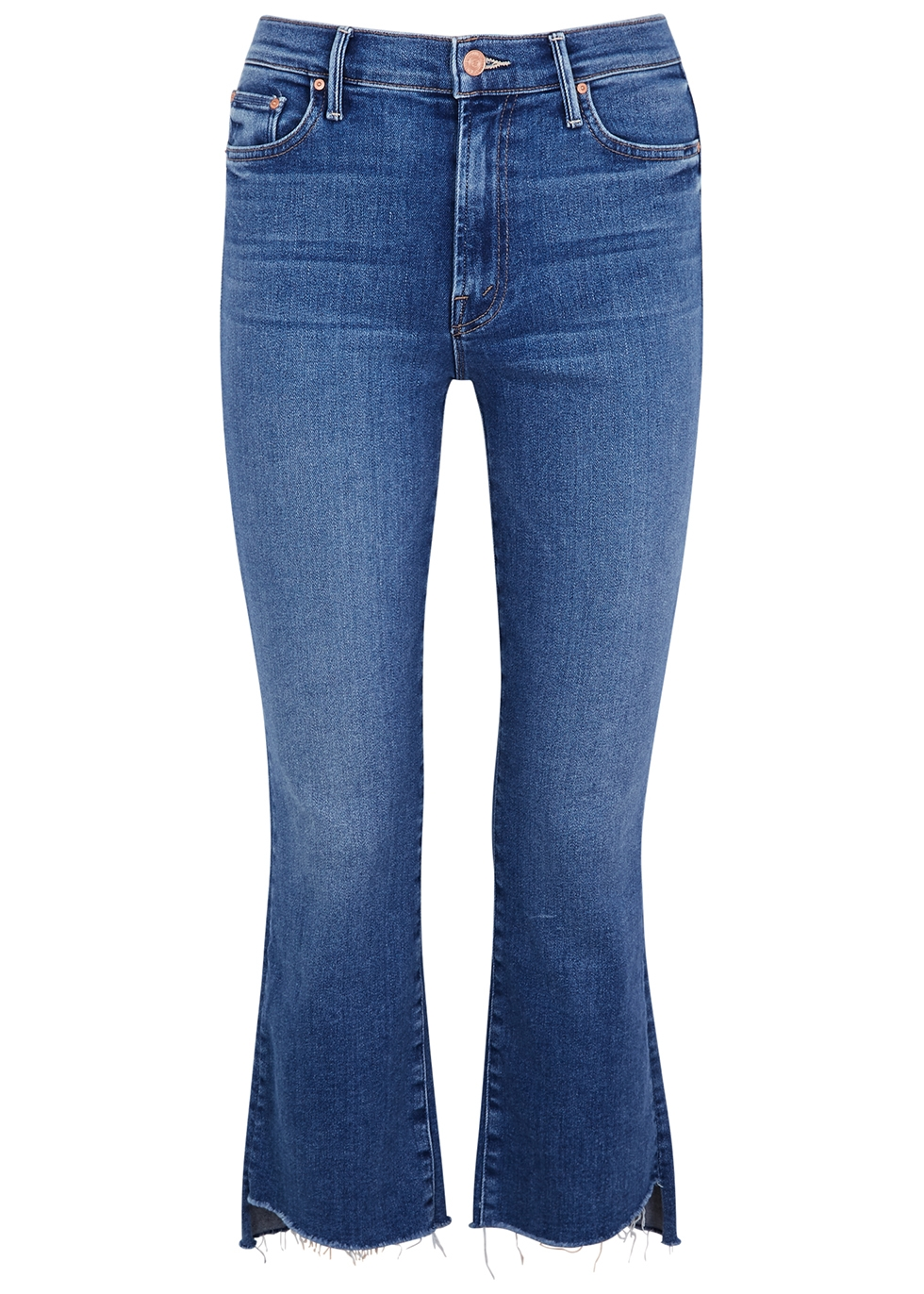 The Insider Crop Step Fray blue jeans