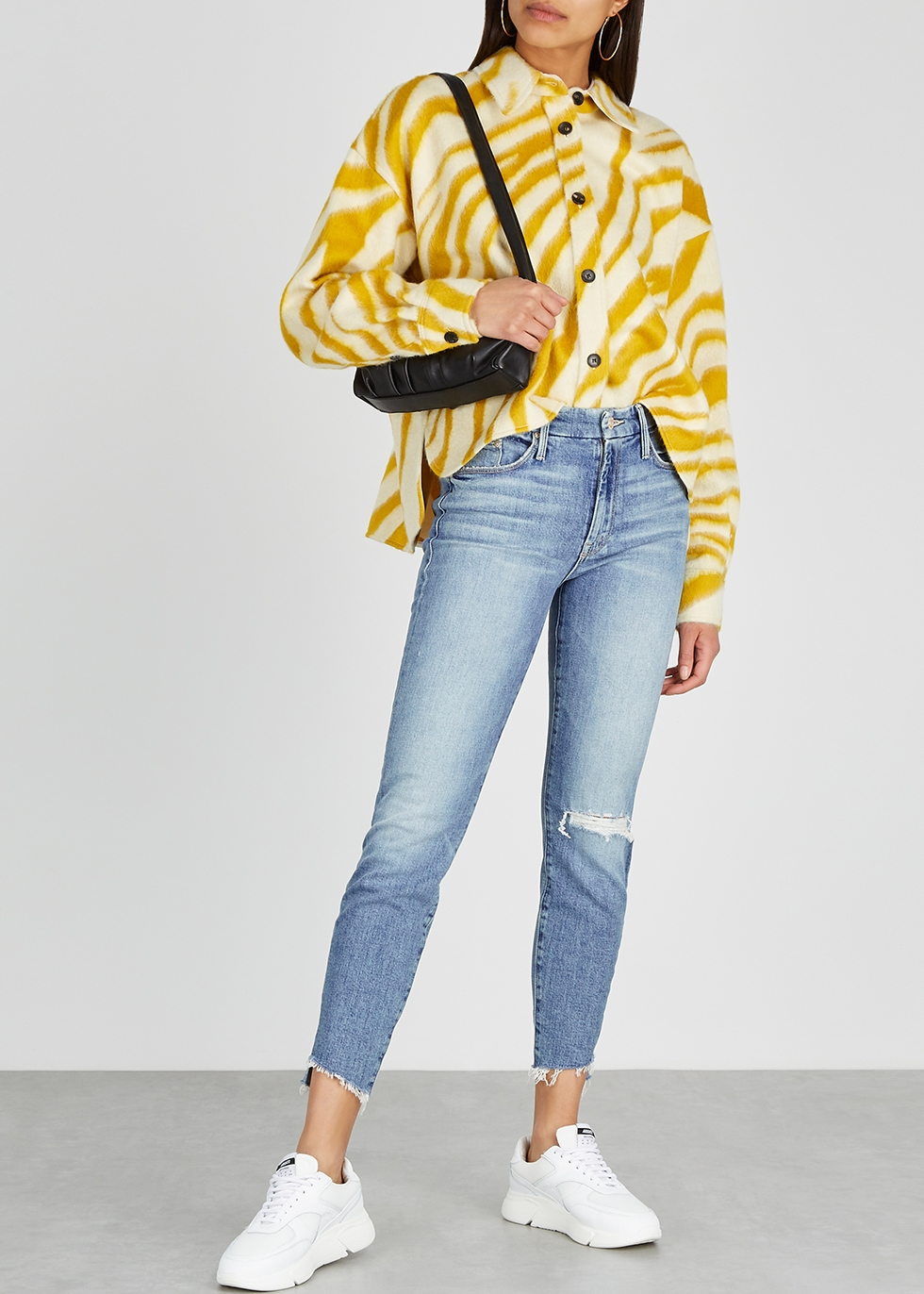 Mother Looker Ankle Step Fray cropped jeans Harvey Nichols
