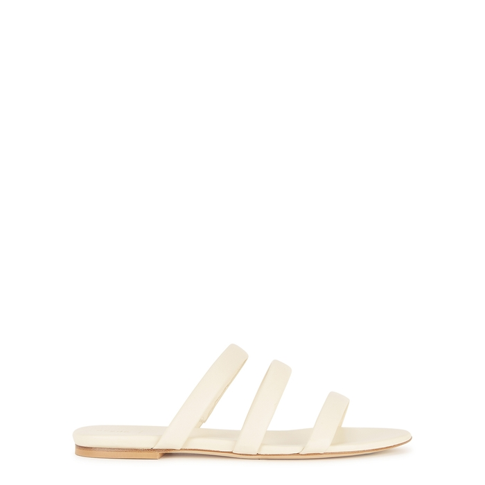 Aeyde AEYDE CHRISSY CREAM LEATHER SANDALS