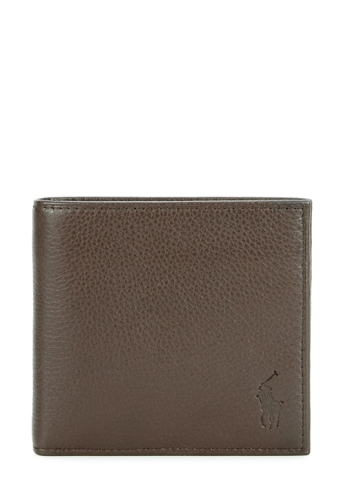 Polo Ralph Lauren Dark Brown Logo Leather Wallet