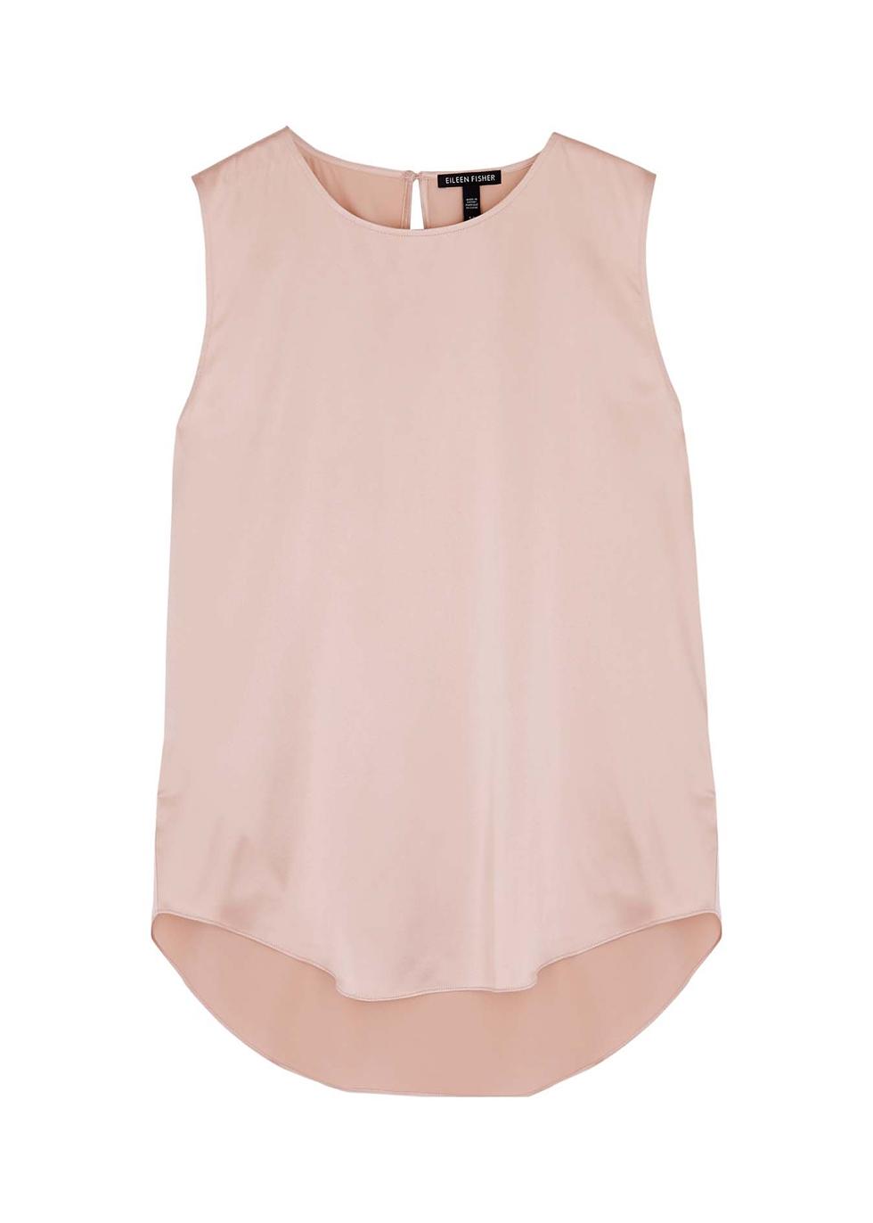 Light pink stretch-silk top