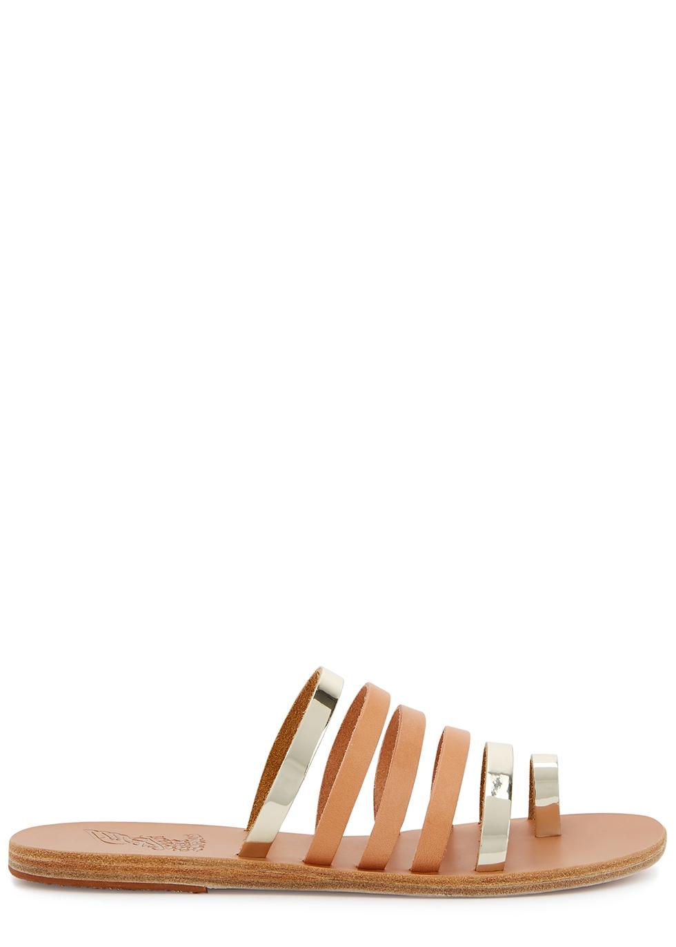 Niki blush leather sandals