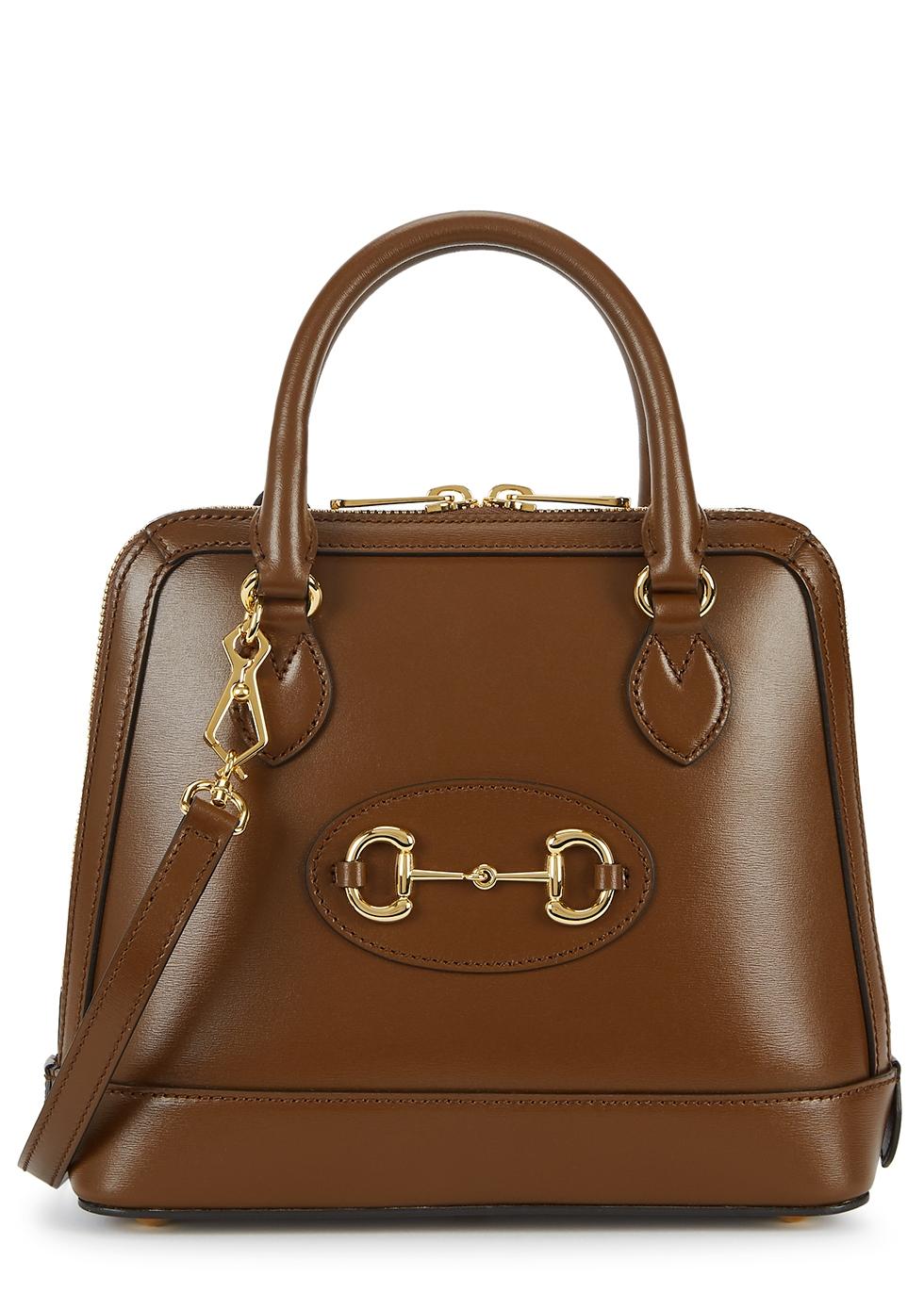 1955 Horsebit brown leather top handle bag