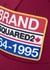 Burgundy logo-appliqued twill cap - Dsquared2