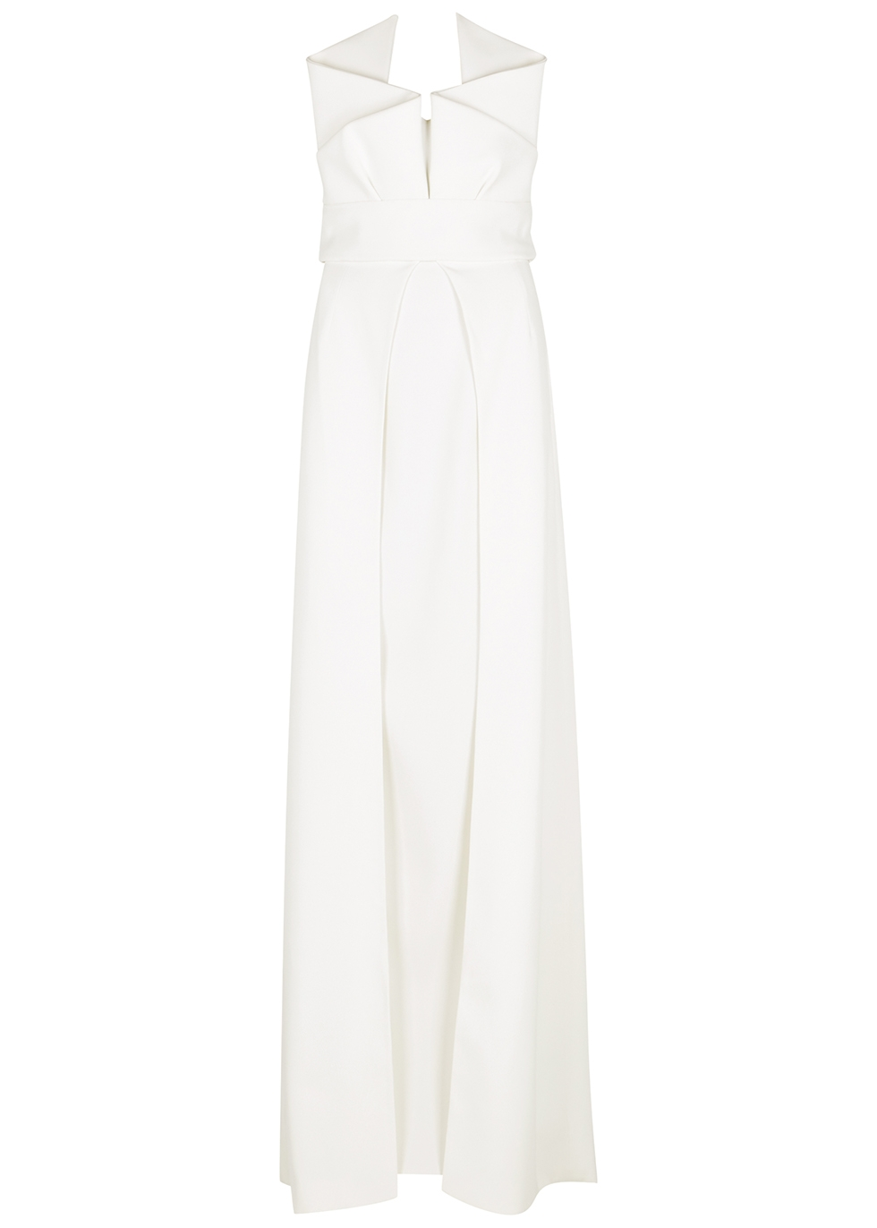 White pleated gown