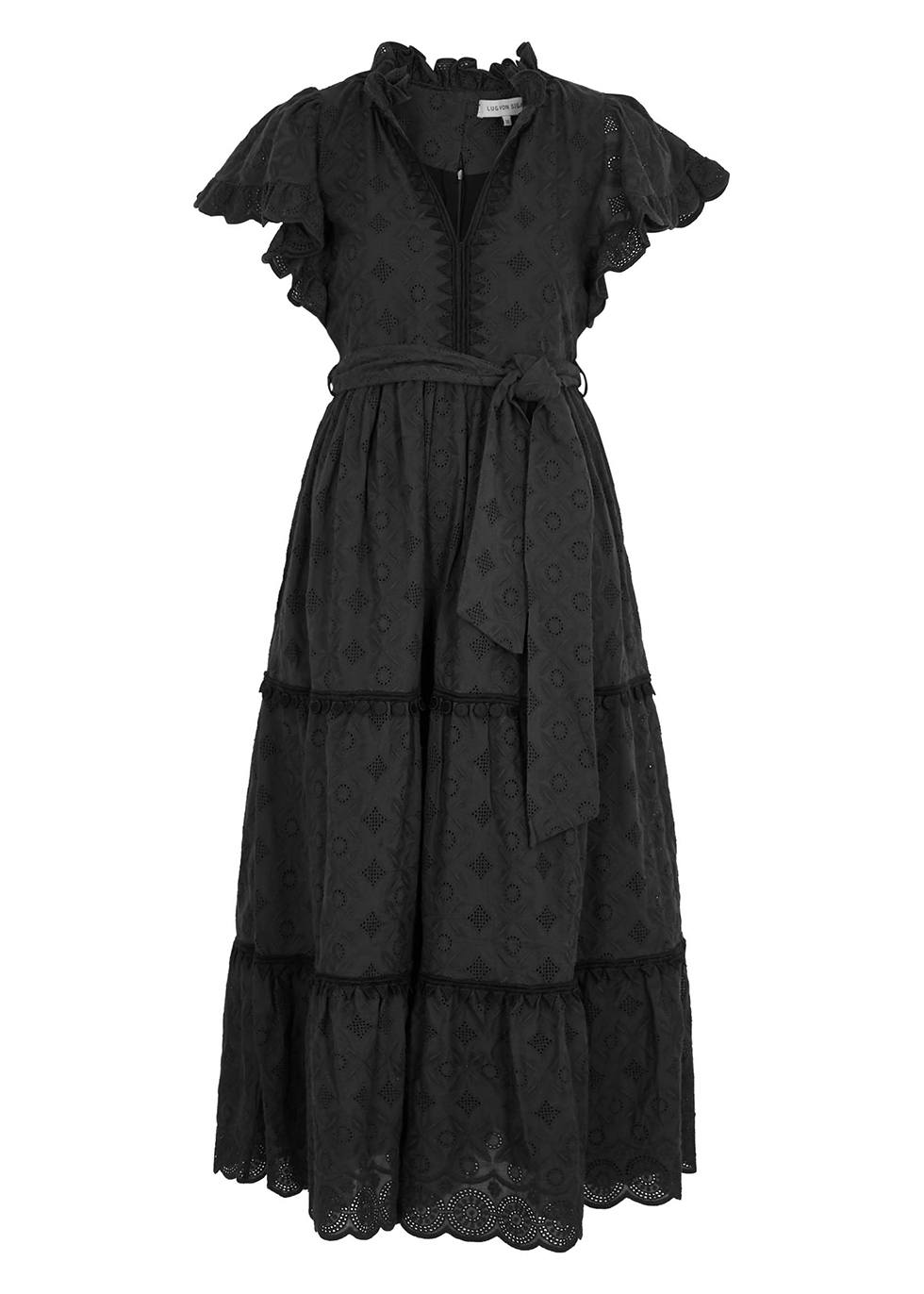 Sofia embroidered cotton midi dress