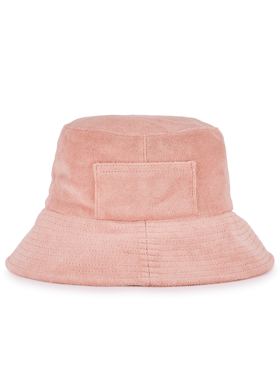 Wave pink terry bucket hat