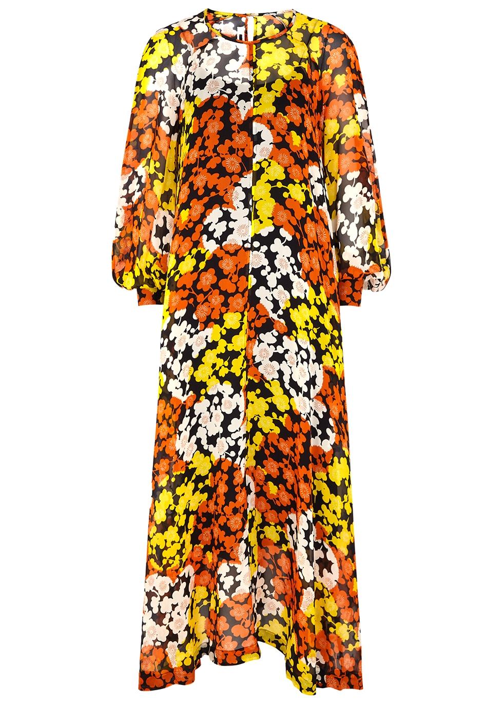 Hisano floral-print silk-chiffon maxi dress