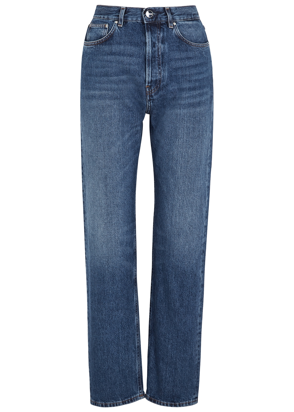 Ease blue straight-leg jeans