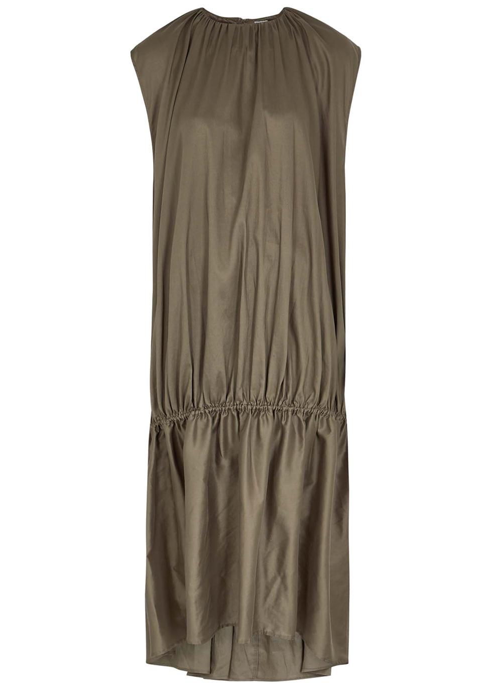 Pretoria olive gathered dress