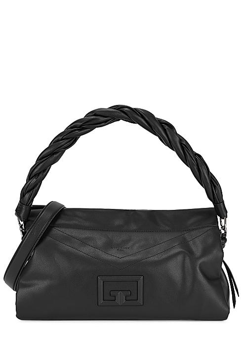 Givenchy ID93 large black leather shoulder bag - Harvey Nichols
