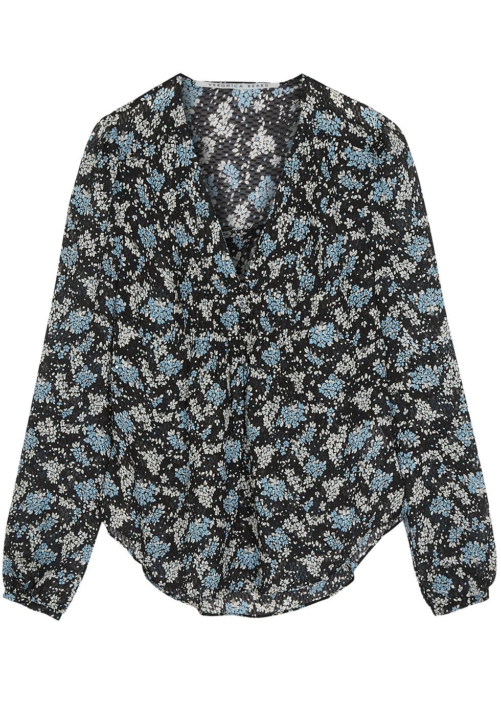 Lowell floral-print silk-chiffon blouse