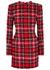 Tartan tweed mini dress - Balmain