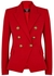 Red double-breasted wool blazer - Balmain