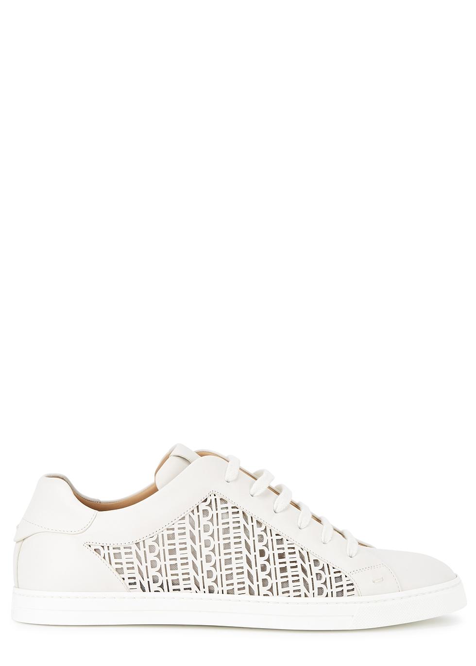 laser-cut leather sneakers - Harvey Nichols