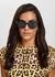 Black oval-frame sunglasses - Boucheron