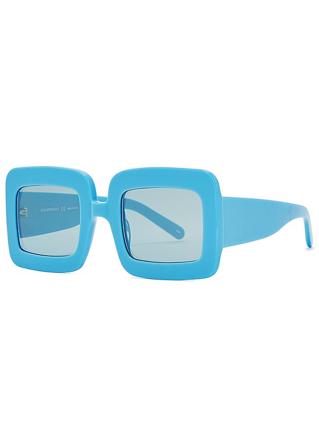 Blue square-frame sunglasses