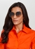 Gold-tone hexagon-frame sunglasses - Stella McCartney