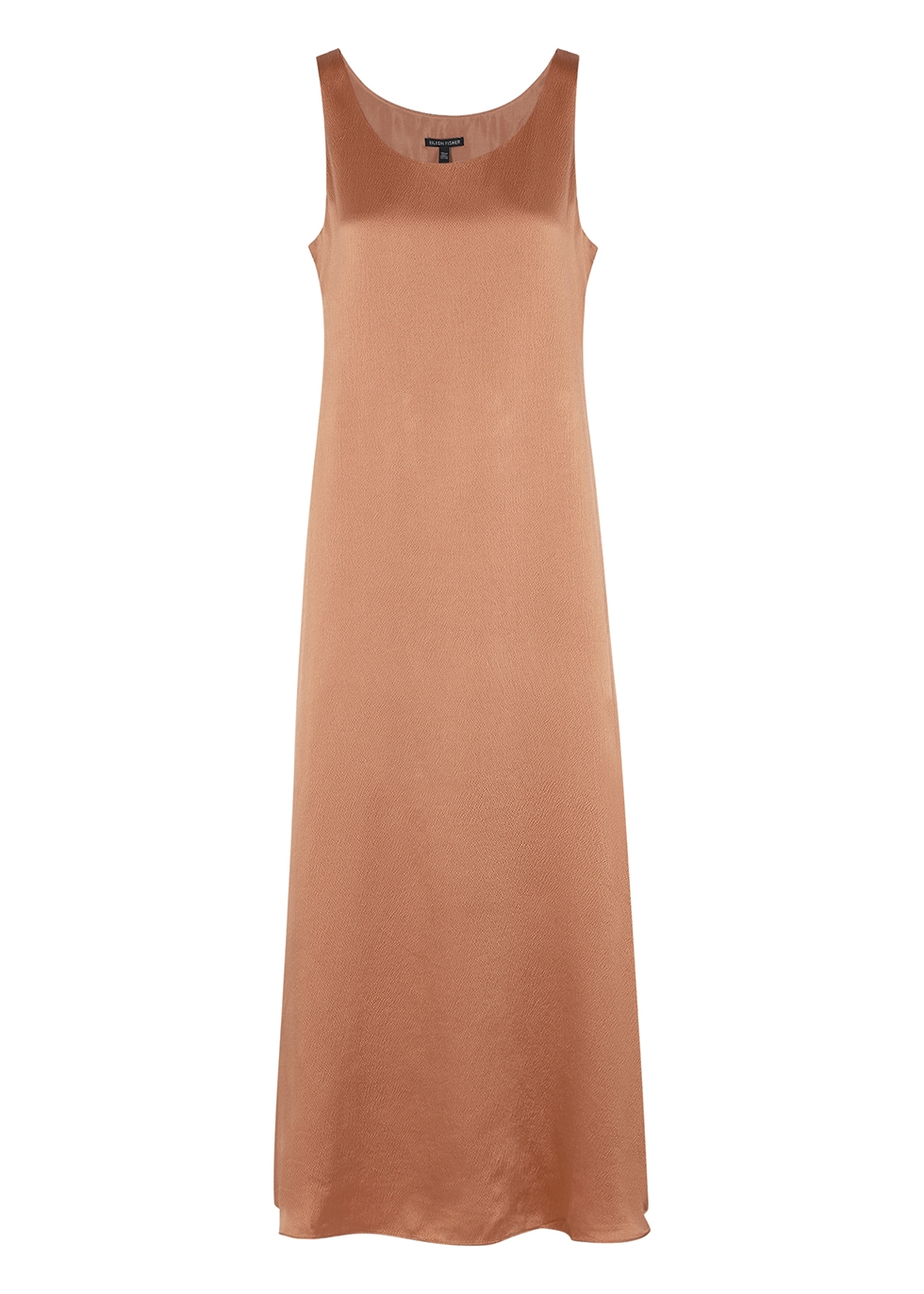 Dusky rose silk maxi dress