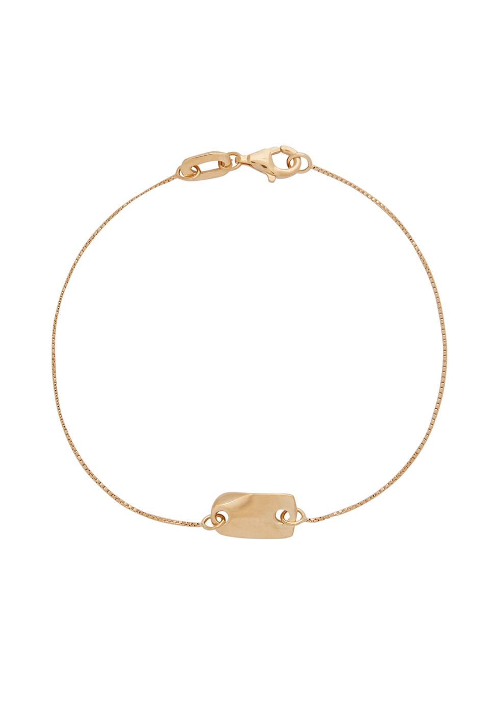 Folded 24kt gold-plated bracelet