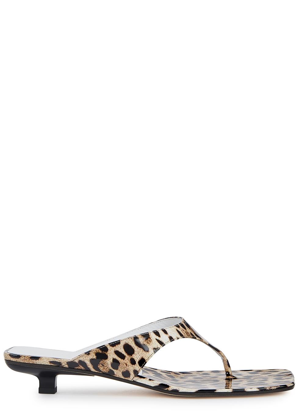 Jack 25 leopard-print patent leather sandals