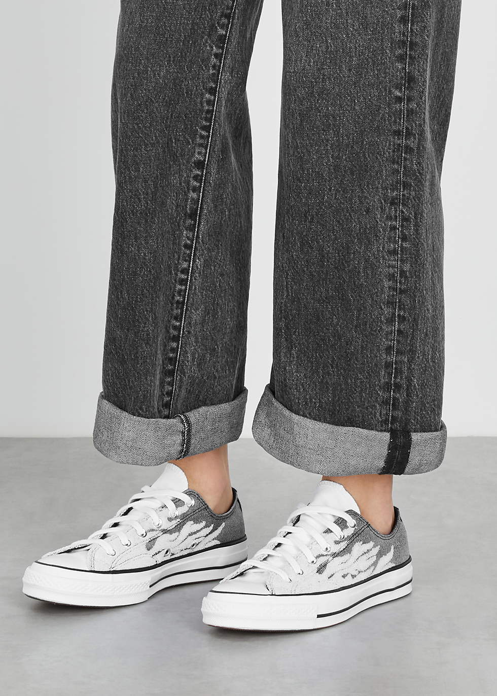 Converse Chuck 70 flame canvas sneakers