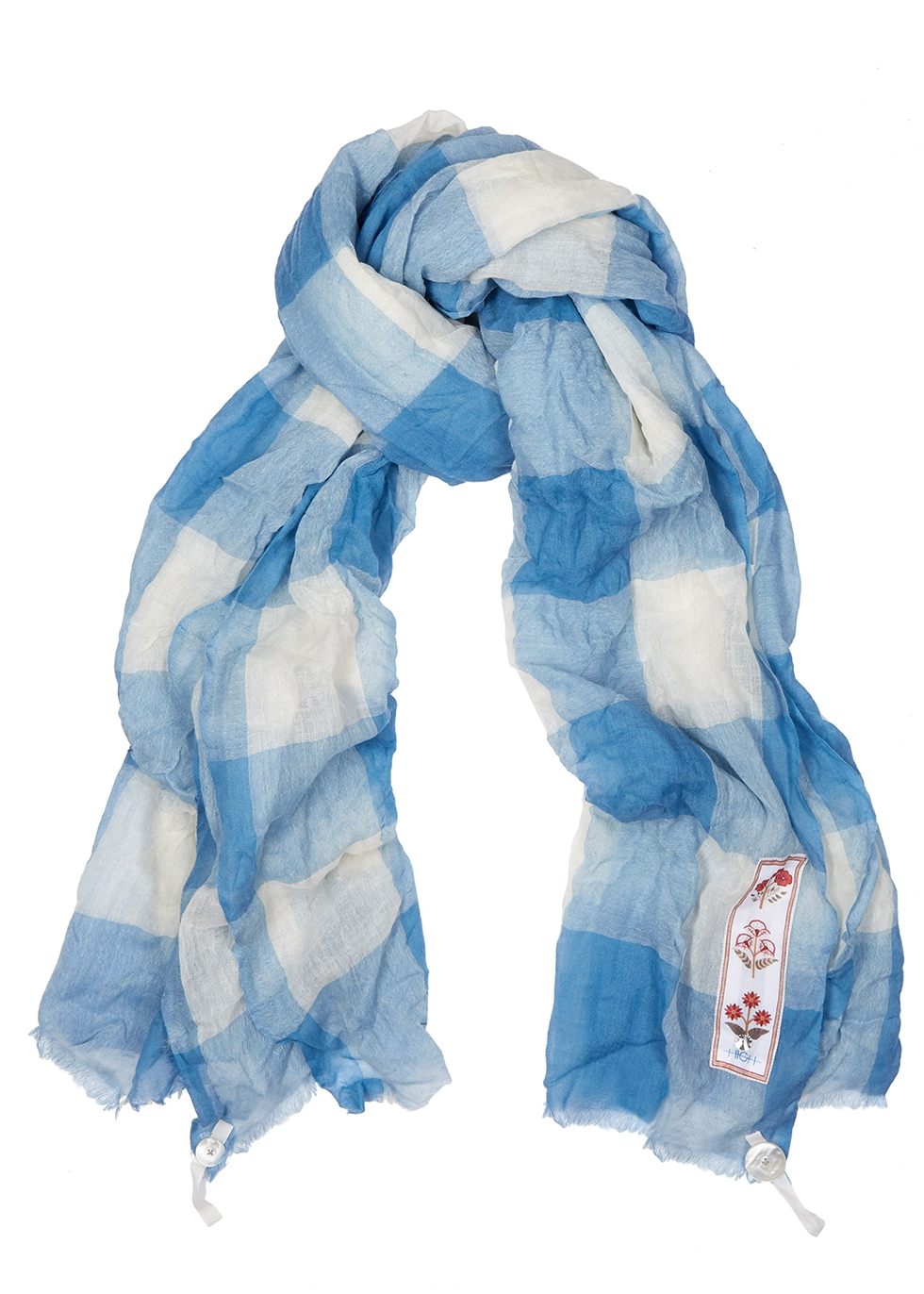 Bounty checked wool scarf