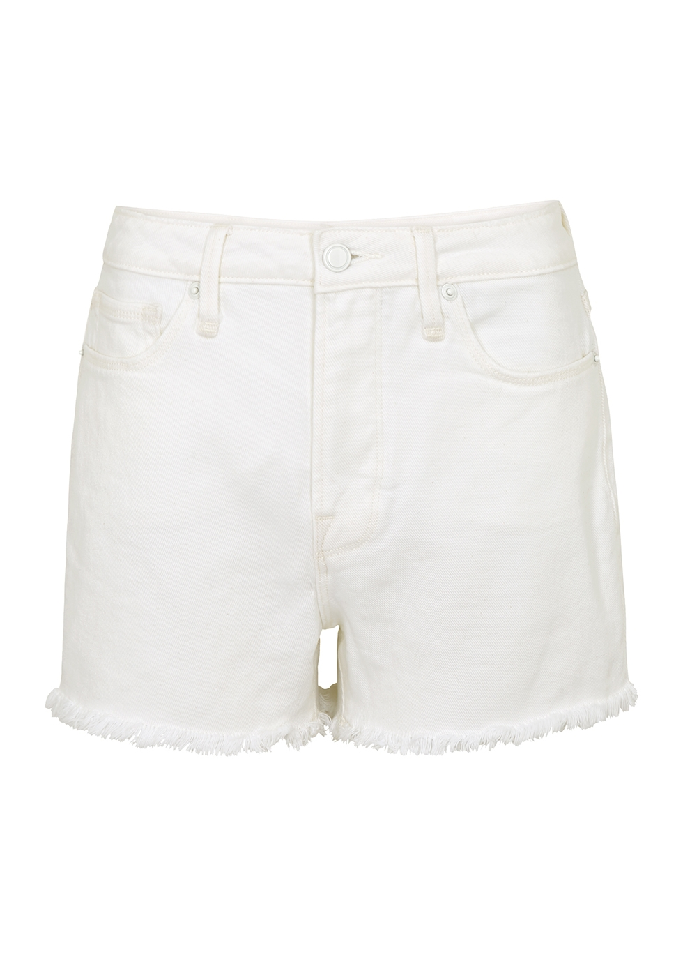 Porkchop white denim shorts