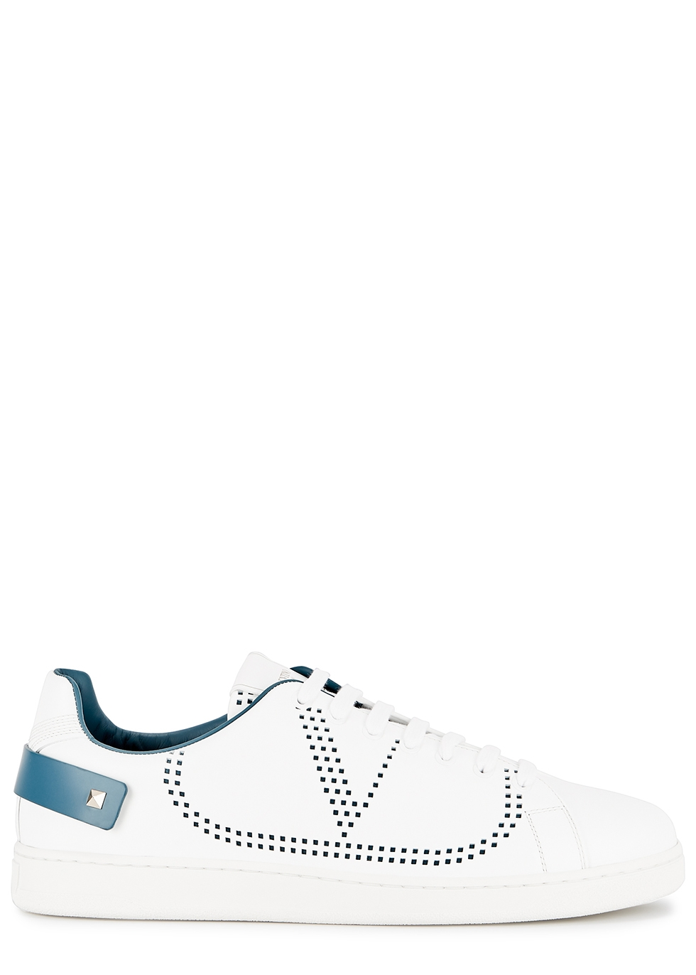 Valentino Garavani white perforated leather sneakers