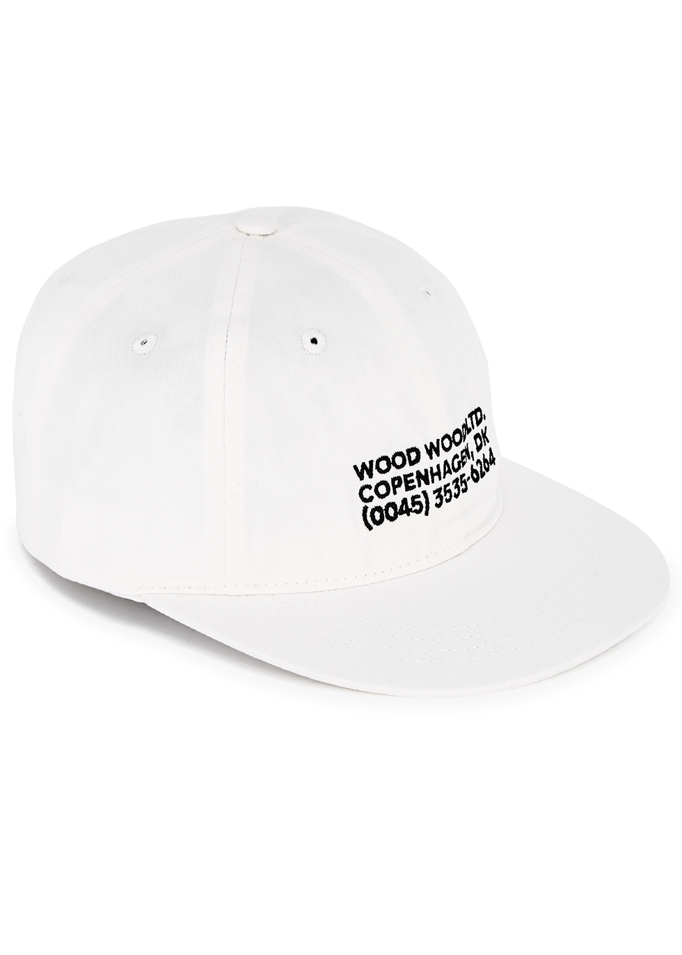 Wood Wood White Logo Embroidered Cotton Cap Harvey Nichols