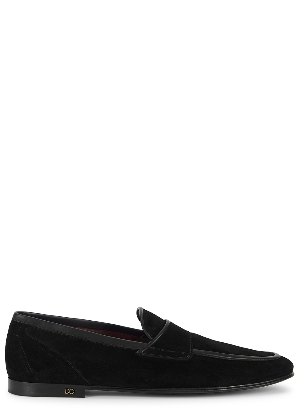 Erice black suede loafers