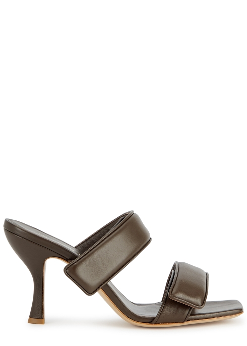 Gia X Pernille Teisbaek 80 chocolate brown leather sandals