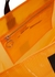 Arrow orange coated Tyvek tote - Off-White