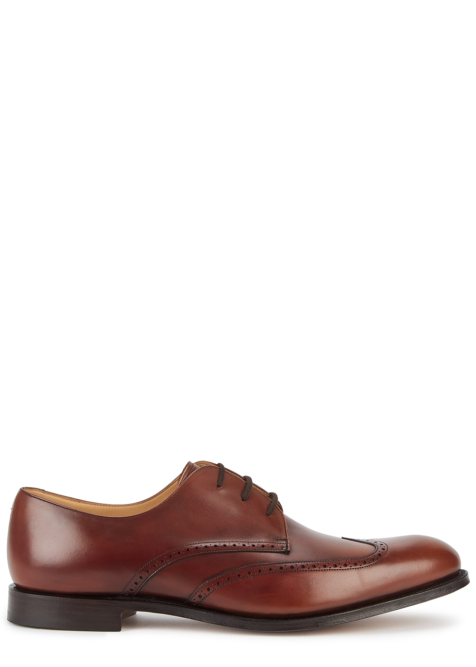 Glasgow chestnut leather Oxford shoes