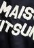 Navy logo-appliquéd satin bomber jacket - Maison Kitsuné