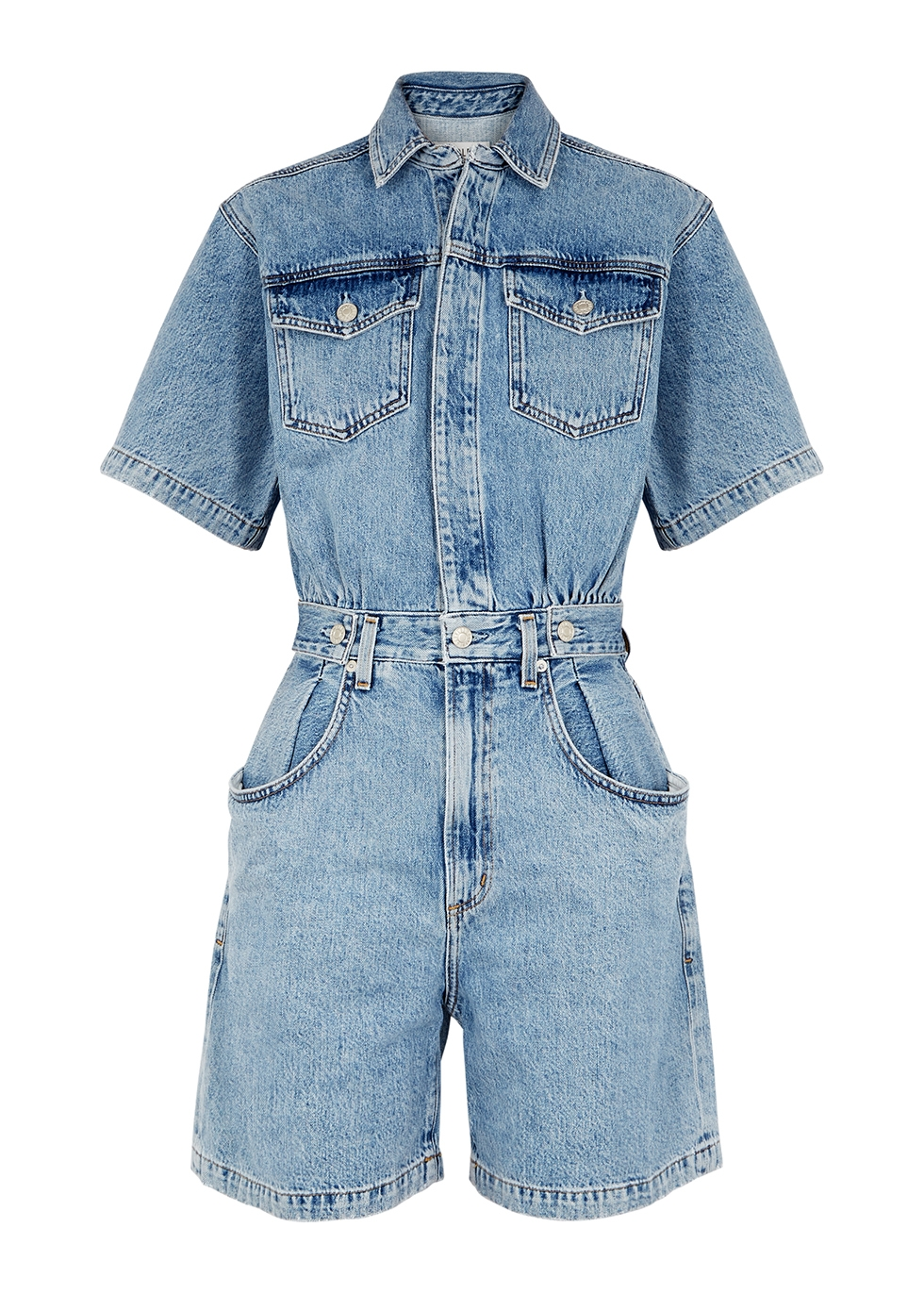 Zora blue denim playsuit