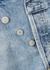 Criss Cross blue denim shorts - AGOLDE