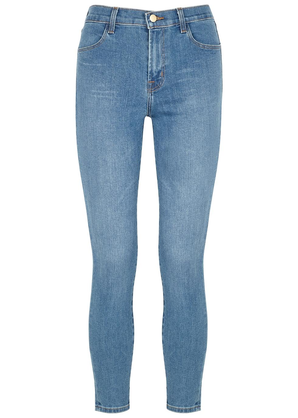 Alana blue cropped skinny jeans