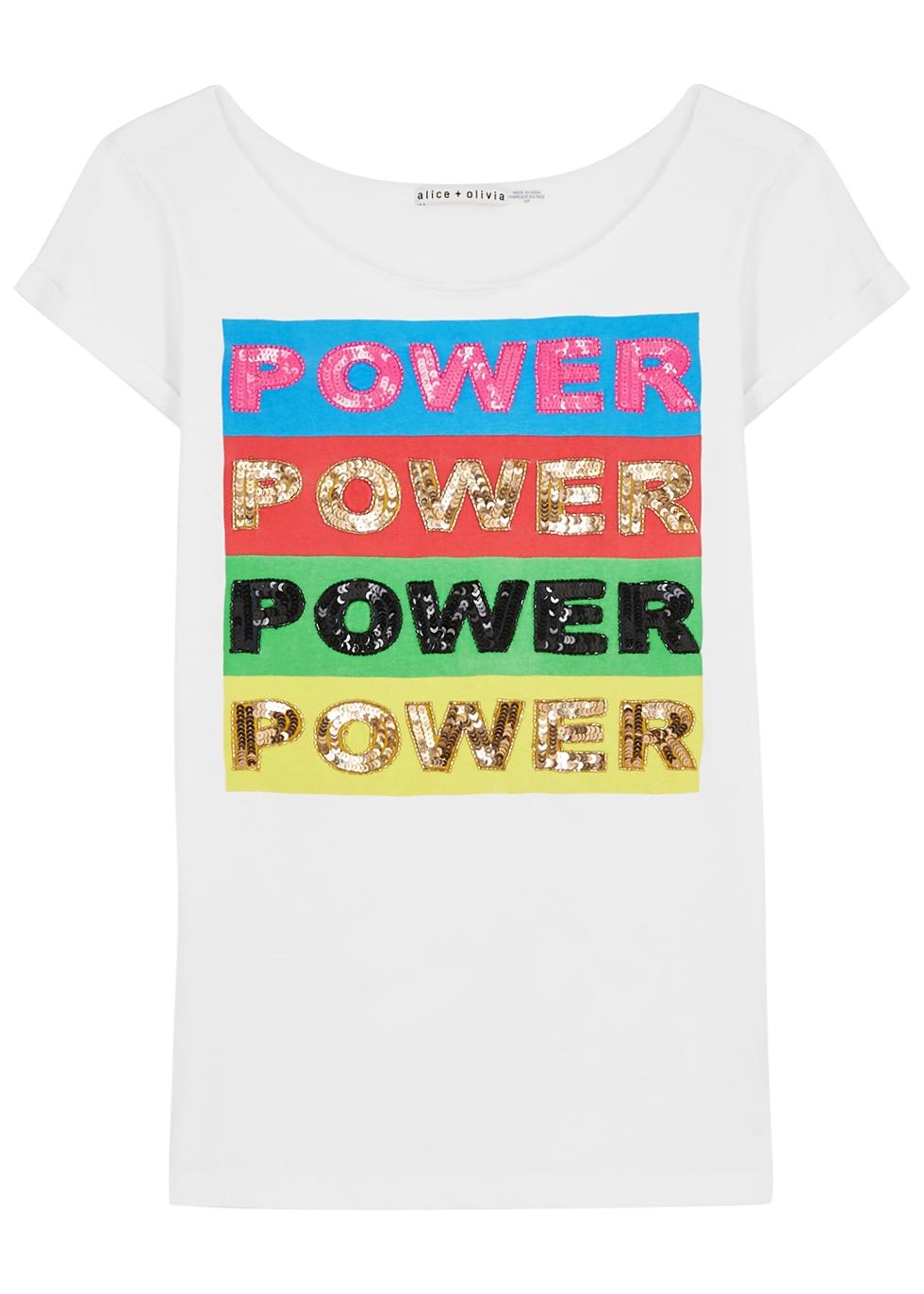 X Lakwena Mikey embellished cotton T-shirt