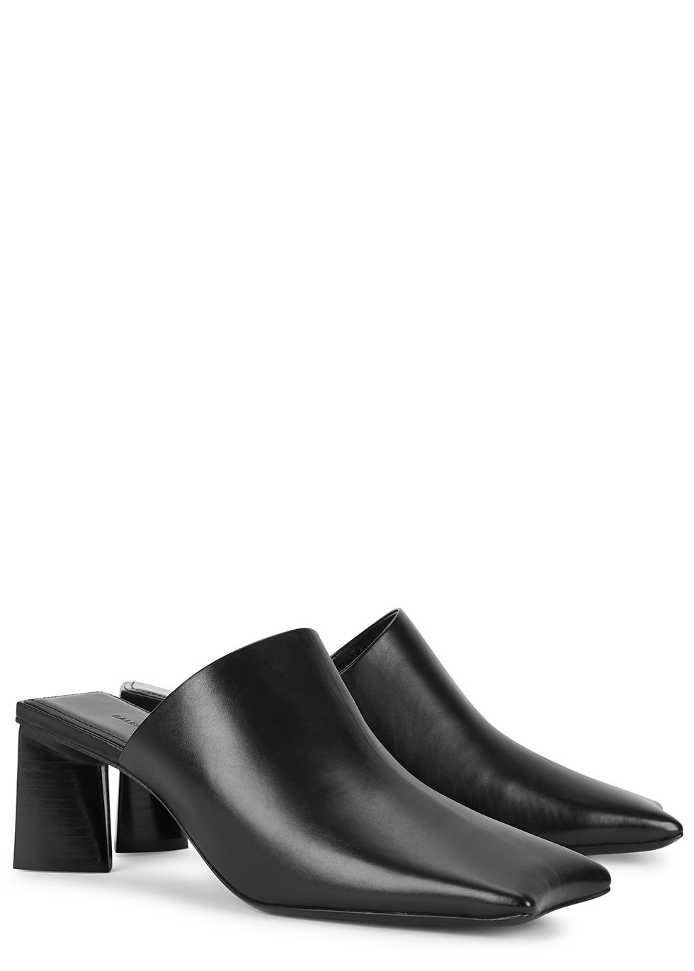 Balenciaga Moon 60 black leather mules