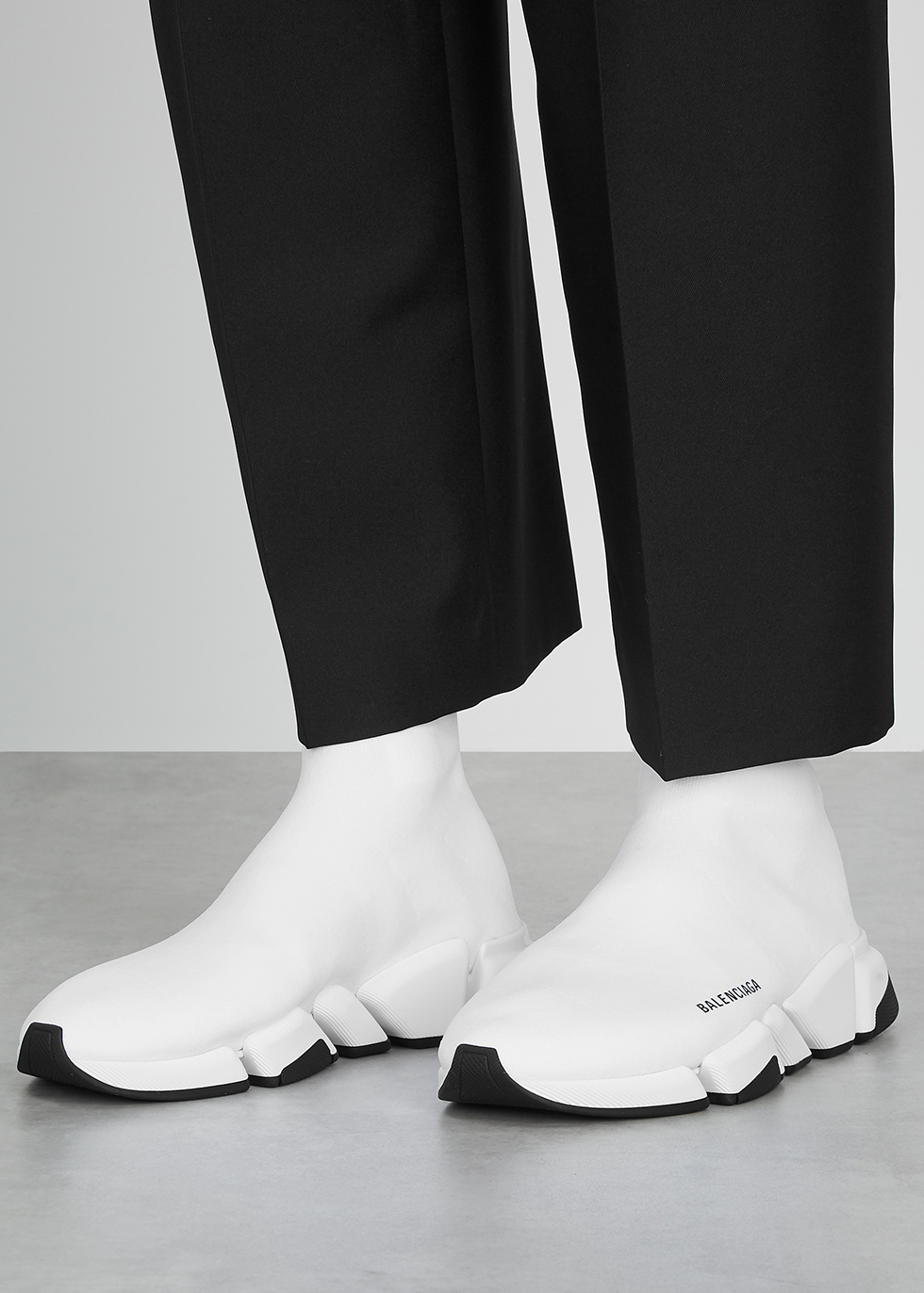 Balenciaga Speed 2.0 white stretch-knit