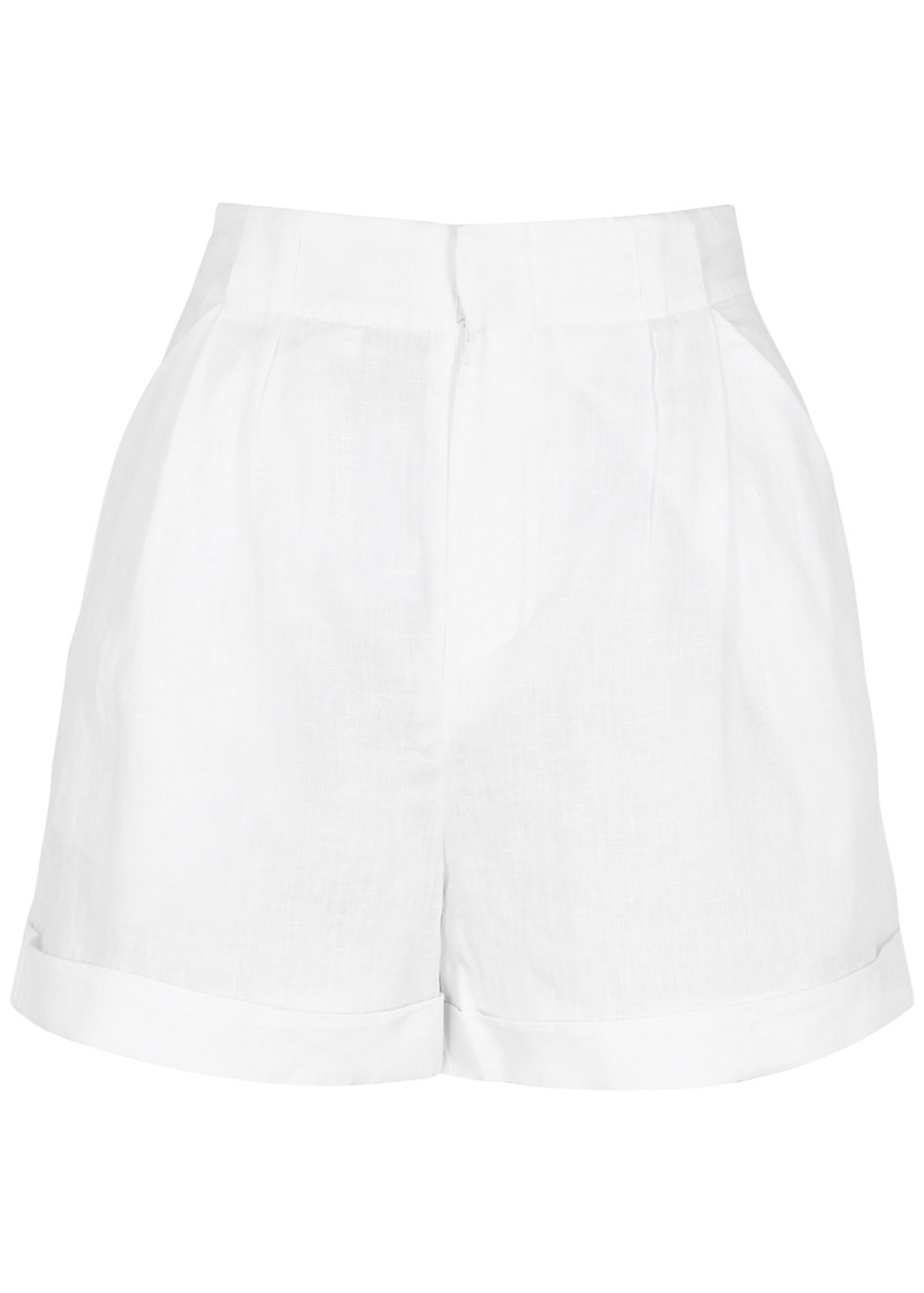 Boyde white linen shorts